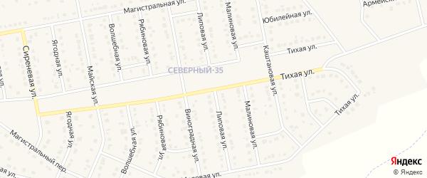 Липовая улица на карте Северного поселка с номерами домов