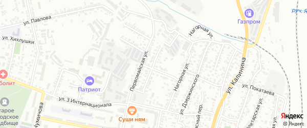 Улица Красных Партизан на карте Белгорода с номерами домов