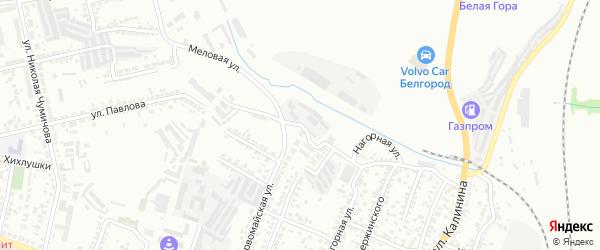 Меловая улица на карте Белгорода с номерами домов