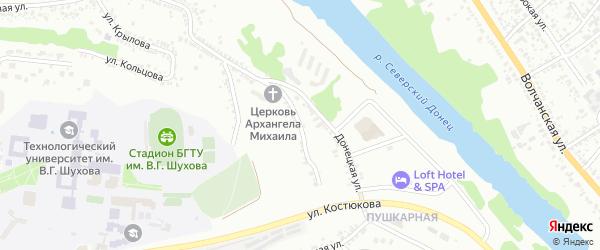 Донецкий 2-й переулок на карте Белгорода с номерами домов