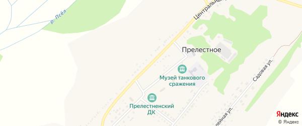 Центральная улица на карте Прелестного села с номерами домов