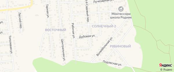 Дубовая улица на карте поселка Дубового с номерами домов