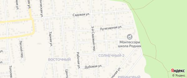 Садовый 3-й переулок на карте поселка Дубового с номерами домов