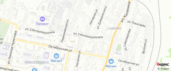 Нагорная улица на карте Белгорода с номерами домов