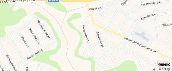 Весенняя улица на карте Таврово 10-й микрорайона с номерами домов