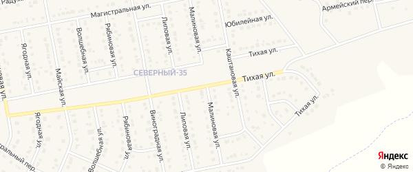 Малиновая улица на карте Северного поселка с номерами домов
