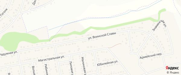 Улица Воинской Славы на карте Северного поселка с номерами домов