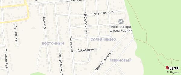 Кленовая улица на карте поселка Дубового с номерами домов