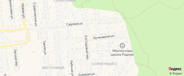 Лучезарная улица на карте поселка Дубового с номерами домов