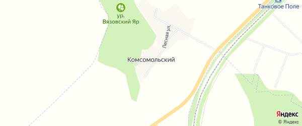 Карта Комсомольского поселка в Белгородской области с улицами и номерами домов