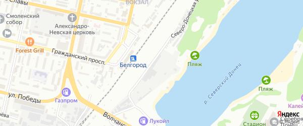 Северо-Донецкая улица на карте Белгорода с номерами домов
