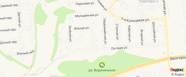 Привольная улица на карте Таврово 3-й микрорайона с номерами домов