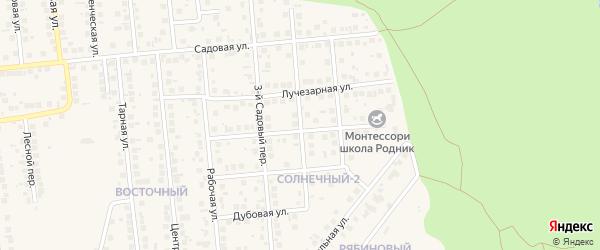 Садовый 4-й переулок на карте поселка Дубового с номерами домов