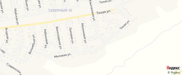 Меловой переулок на карте Северного поселка с номерами домов