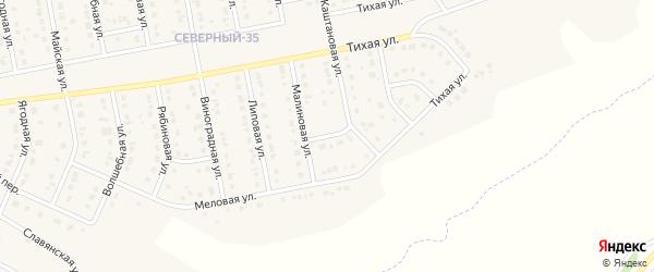 Меловой 2-й переулок на карте Северного поселка с номерами домов