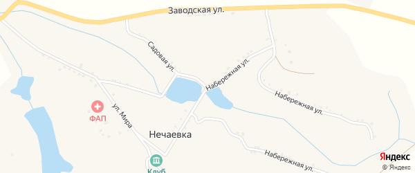 Набережная улица на карте села Нечаевки с номерами домов