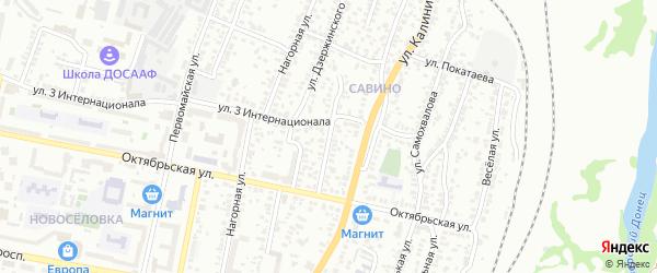 Красный переулок на карте Белгорода с номерами домов