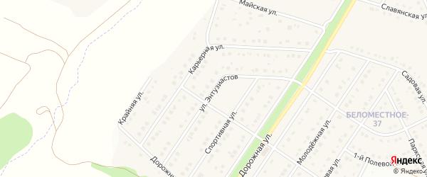 Улица Энтузиастов на карте Беломестного села с номерами домов