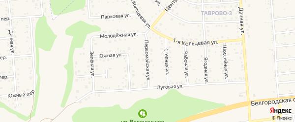 Первомайская улица на карте Таврово 3-й микрорайона с номерами домов