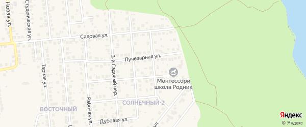 Садовый 5-й переулок на карте поселка Дубового с номерами домов