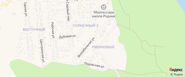 Волейбольная улица на карте поселка Дубового с номерами домов
