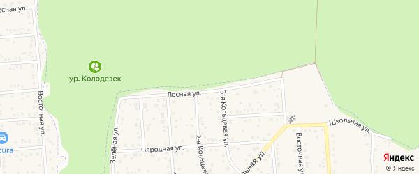 Лесная улица на карте Таврово 3-й микрорайона с номерами домов