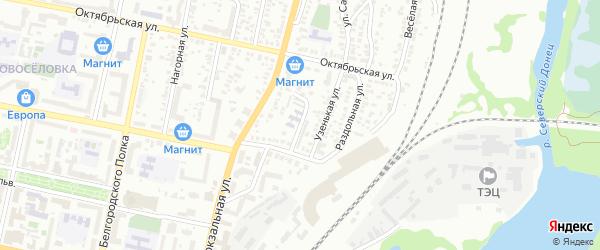 Банный переулок на карте Белгорода с номерами домов