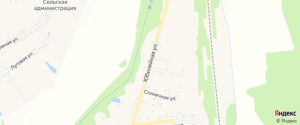 Юбилейная улица на карте хутора Красного Востока с номерами домов