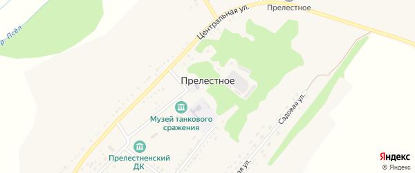 Садовая улица на карте Прелестного села с номерами домов