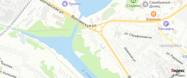 Волчанский 1-й переулок на карте Белгорода с номерами домов