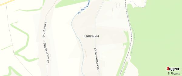 Карта хутора Калинина в Белгородской области с улицами и номерами домов