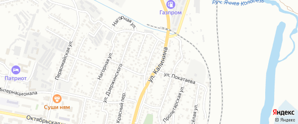 Красногвардейская улица на карте Белгорода с номерами домов