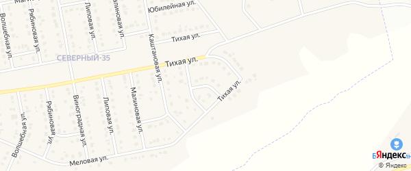 Тихий переулок на карте Северного поселка с номерами домов