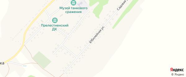 Юбилейная улица на карте Прелестного села с номерами домов