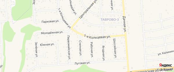 Кольцевая 1-я улица на карте Таврово 3-й микрорайона с номерами домов