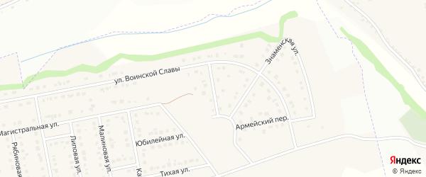 Гвардейский переулок на карте Северного поселка с номерами домов