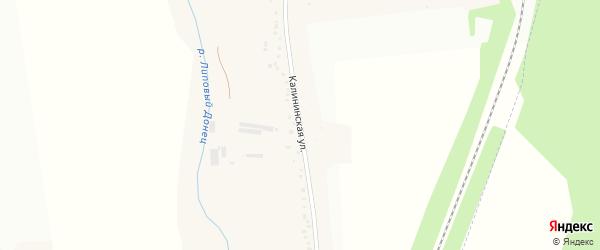 Калининская улица на карте хутора Калинина с номерами домов