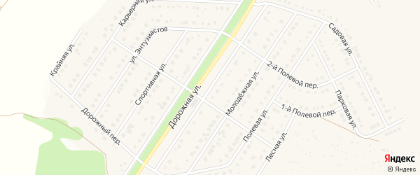 Дорожная улица на карте Беломестного села с номерами домов
