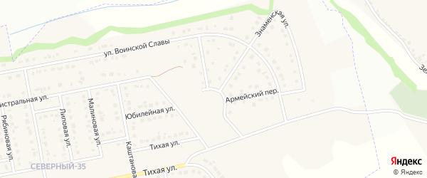 Кольцевая улица на карте Северного поселка с номерами домов