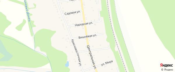 Вишневая улица на карте хутора Красного Востока с номерами домов