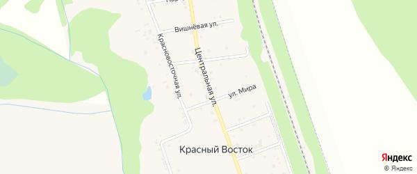Центральная улица на карте хутора Красного Востока с номерами домов