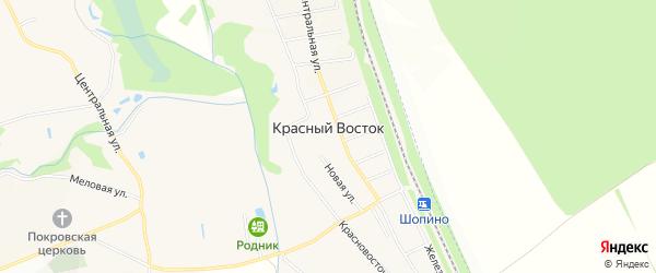 Карта хутора Красного Востока в Белгородской области с улицами и номерами домов