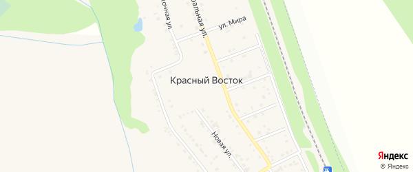 Ташкентская улица на карте хутора Красного Востока с номерами домов