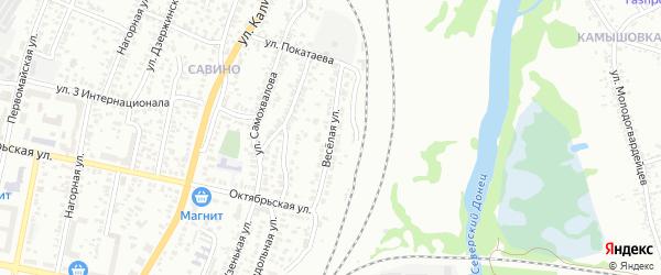 Веселая улица на карте Белгорода с номерами домов