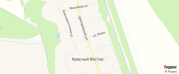 Улица Мира на карте хутора Красного Востока с номерами домов