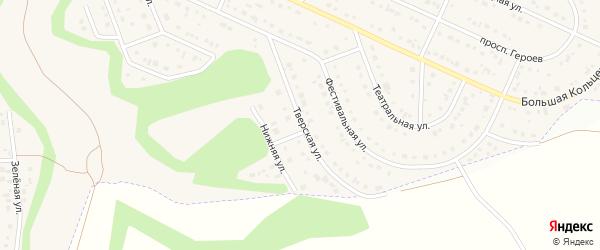 Тверская улица на карте Таврово 10-й микрорайона с номерами домов
