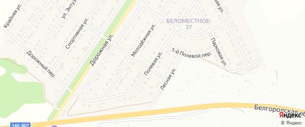 Полевая улица на карте Беломестного села с номерами домов