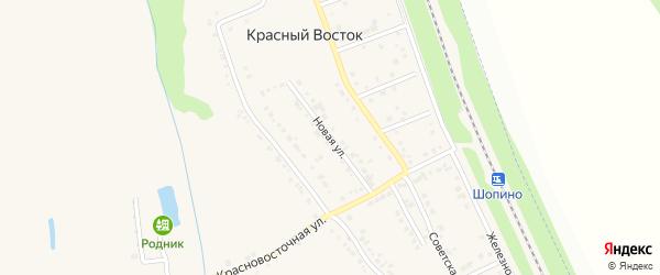 Новая улица на карте хутора Красного Востока с номерами домов
