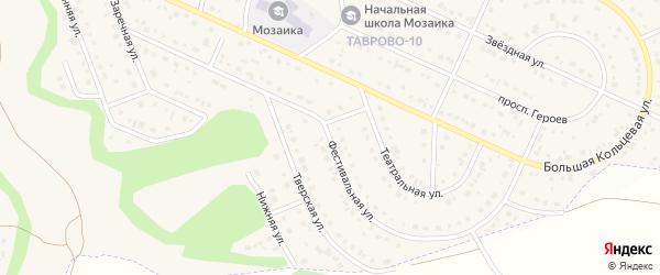 Фестивальная улица на карте Таврово 10-й микрорайона с номерами домов