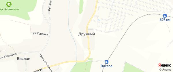 Вислое СТ на карте Дружного хутора с номерами домов